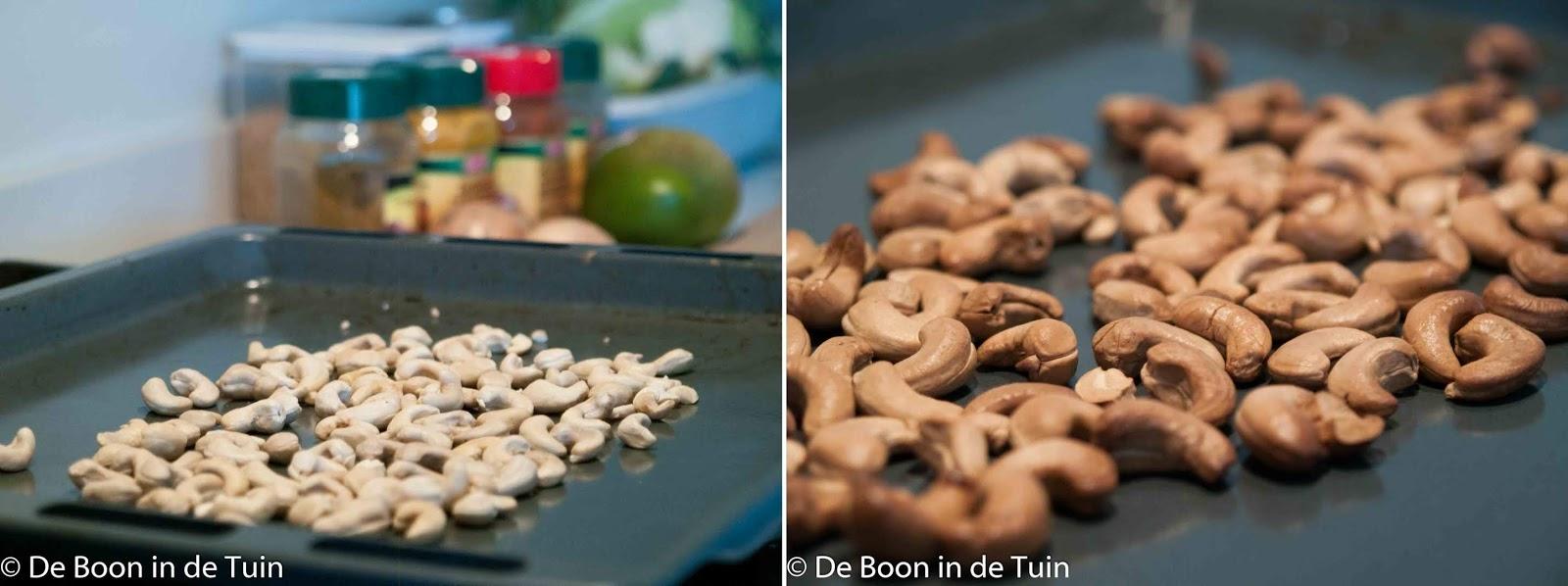 recept bloemkool indiase indian curry noten roosteren