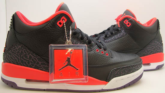 Air Jordan 3 Retro Black Bright Crimson-Canyon Purple-Prism Violet Available  Early On eBay 4a2e3f9deffc