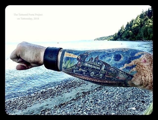 10636163_10152624269795664_4028888351526159077_n Matt Amott's Locomotive (The Tattooed Poets Project) tattoo