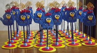 centro de mesa para festa infantil