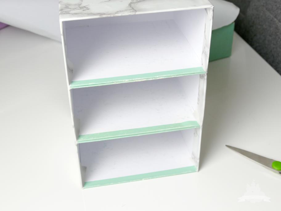 DIY Schubladen Kosmetikaufbewahrung Schritt 6