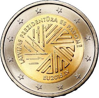 2€ Présidence UE 2015 Lettonie