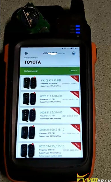 generate toyota xm smart key with key tool max -1