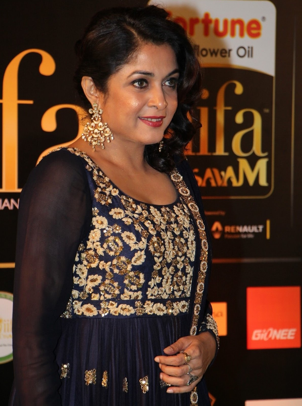 Ramya Krishna Photos In Black Dress
