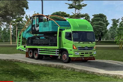Mod Truck Hino Muat Excavator By AM Project