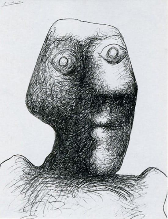 Autorretrato de Picasso el 3 julio de 1972, con 90 años