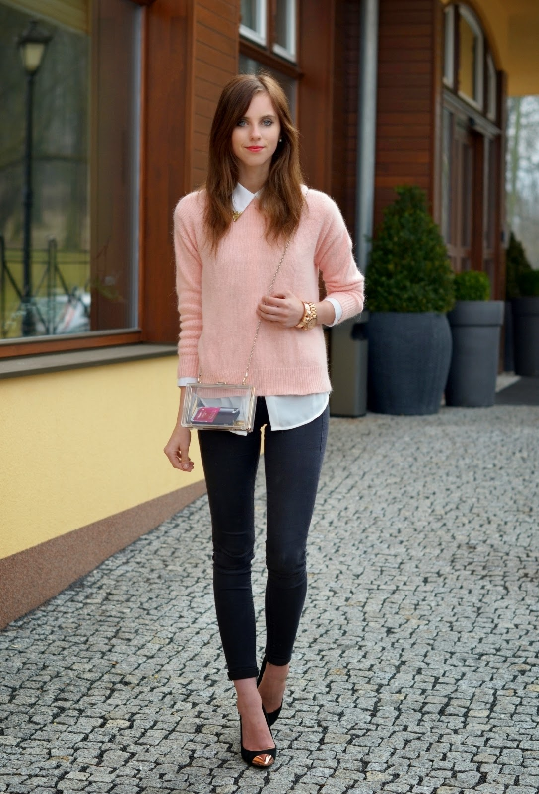 Autumn 2014 Outfit in Pastel Pink
