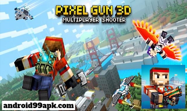 لعبة Pixel Gun 3D v17.0.0 مهكرة كاملة بحجم 927 MB للأندرويد