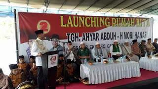 <b>Resmikan RUMAH KITA AMAN, Ahyar Abduh Ingatkan Masyarakat Jangan Asal Pilih Pemimpin</b>
