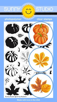 Sunny Studio Stamps: Crisp Autumn 4x6 Clear Photopolymer Layered Pumpkins & Fall Leaves layering Stamps