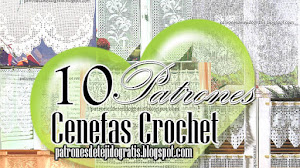 10 patrones de cortinas y cenefas crochet filet
