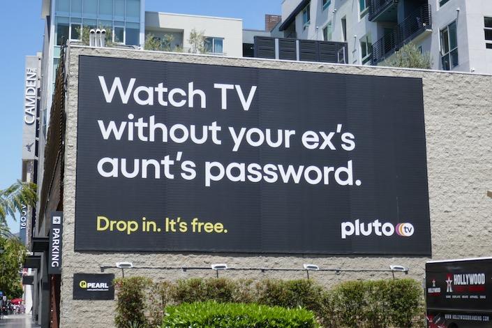 Watch TV without your ex aunt password PlutoTV billboard