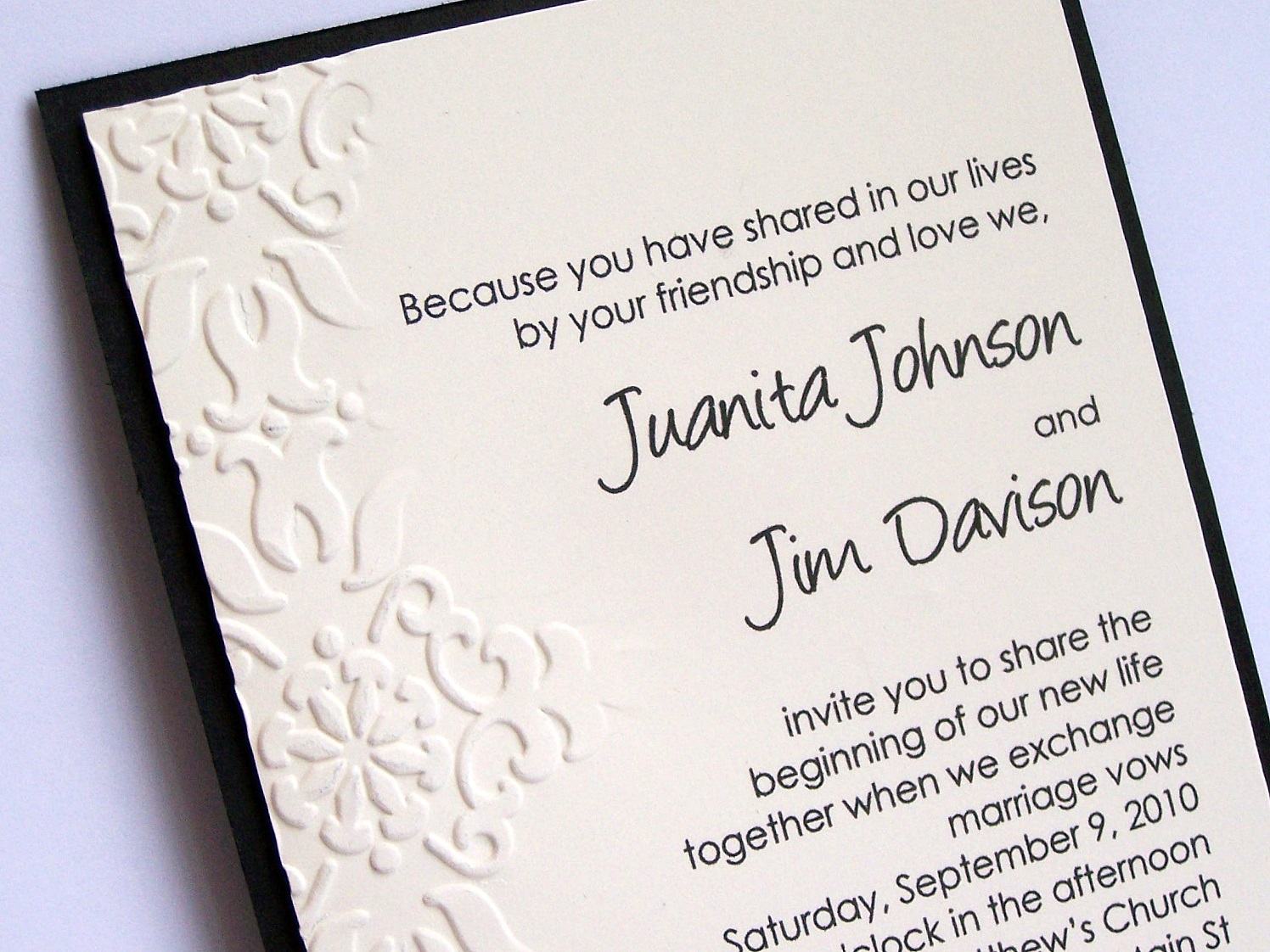 Wedding Invitation Workding: Julie's Stamping Spot -- Stampin' Up! Project Ideas By