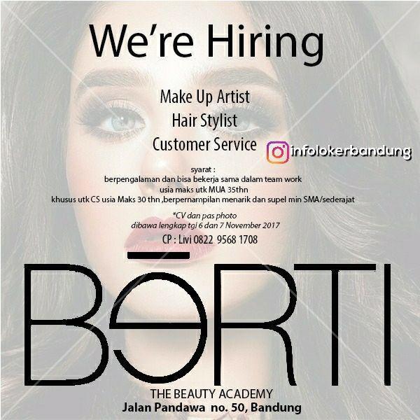 Lowongan Kerja The Beauty Academy ( BERTI ) Bandung November 2017