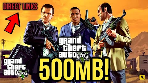 Easily Download Original GTA 5 Highly Compressed For PC in 500MB Parts