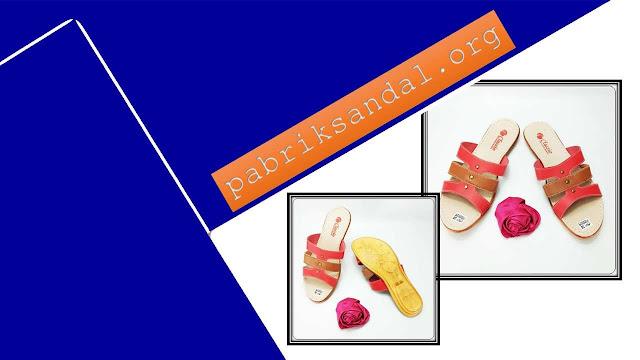 Pusat Sandal Kulit Wanita-  Sandal CS Slop Karet Wanita Awet