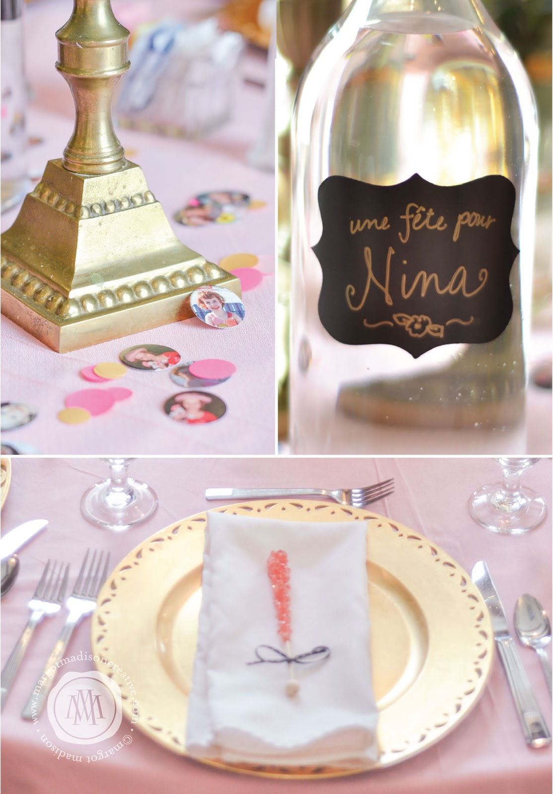 Margotmadison A Pink And Gold Parisian Party For Nina