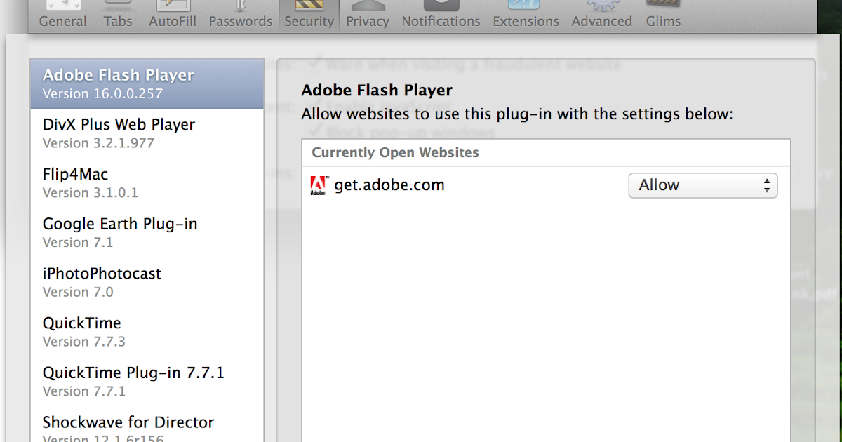 le plugin webplayer v16