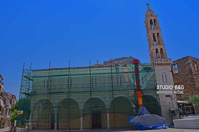 Η μόνη ελπίδα σωτηρίας για τον  Ιερό Ναό του Αγίου Γεωργίου Ναυπλίου είναι η ένταξη στο ΕΣΠΑ