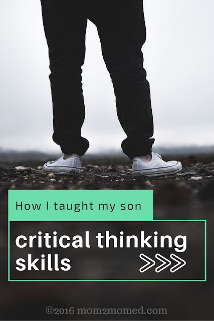 Mom2MomEd blog: How I taught my son critical thinking skills
