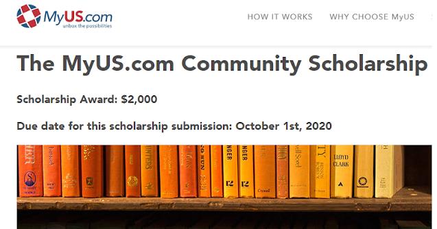هاام للطلبة فرصة الحصول على منحة بقيمة 2000 دولار من شركة  MyUS.com لطلاب الماجستير والبكالوريوس