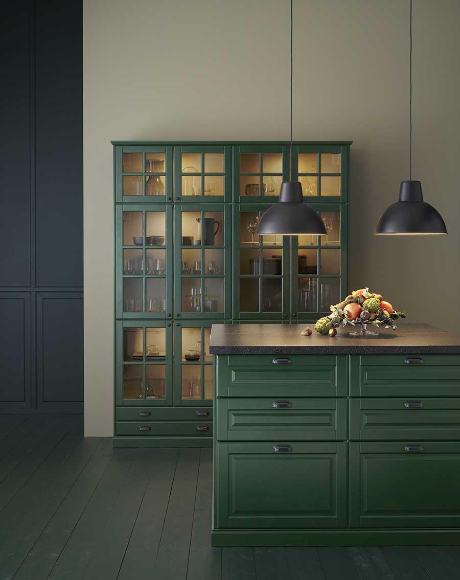 Novedades catálogo Ikea 2020 cocina verde oscuro nuevo