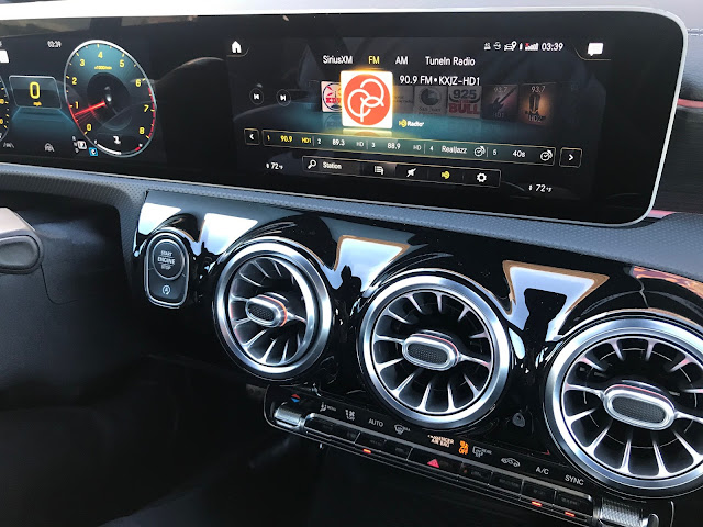 Infotainment screen in 2020 Mercedes-Benz CLA250 4MATIC