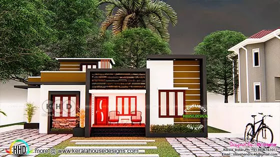 Modern contemporary style budget house plan