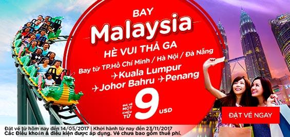 Bay Malaysia hè vui thả ga
