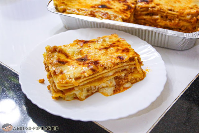 Plated Cheesy Pork Lasagna of Eats Good