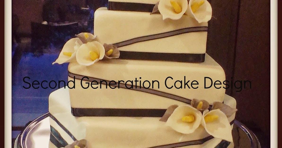 Second Generation Cake Design: Calla Lily Wedding Cake