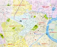 Mapa ciudad Ho Chi Minh, Vietnam
