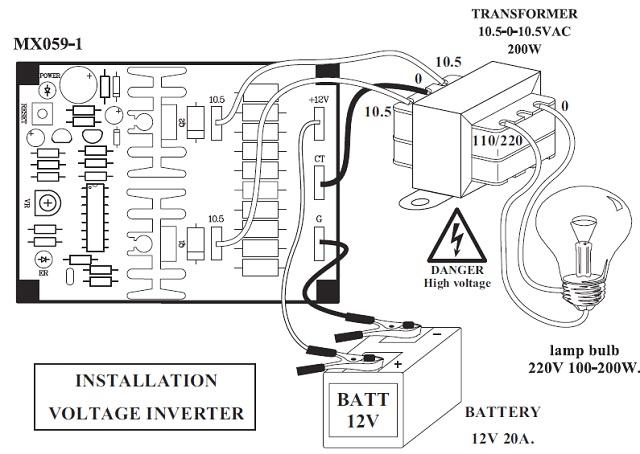 voltage inverter 12vdc to 110  220vac  installation voltage regulator