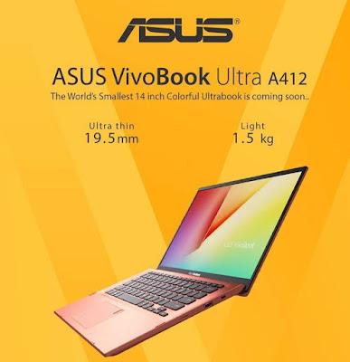 Ultrabook terkecil didunia ASUS VivoBook Ultra A412