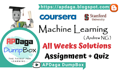 Coursera: Machine Learning - All weeks solutions [Assignment + Quiz] | Andrew NG