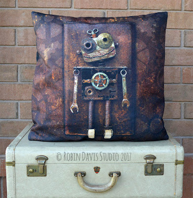 Steampunk Pillows by Robin Davis Studio