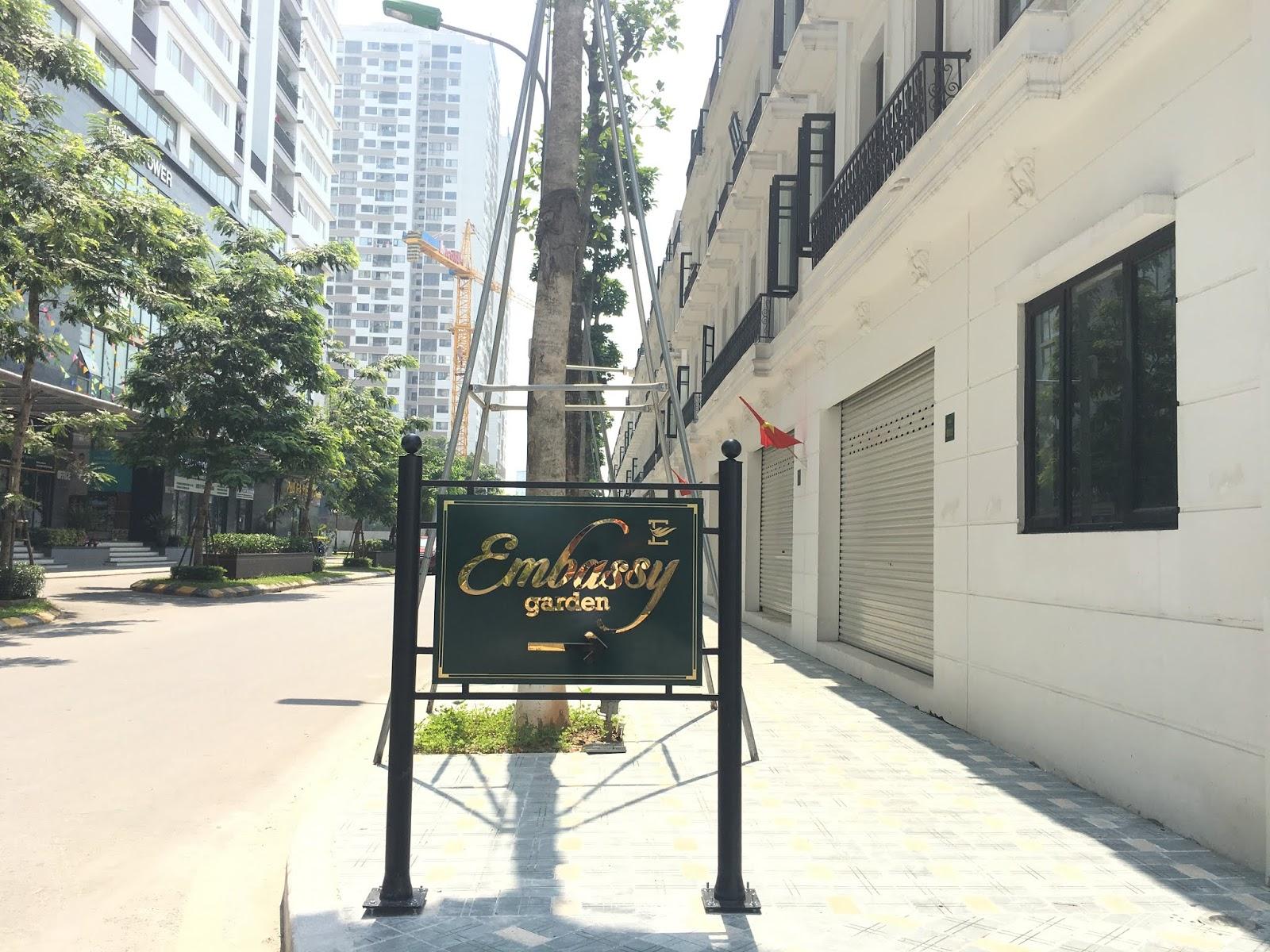 cho thuê shophouse, biệt thự Embassy Garden