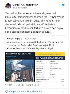 Kapolda Jateng Persilakan Dahnil Anzar ke Samsat Bayar Pajak Vespa