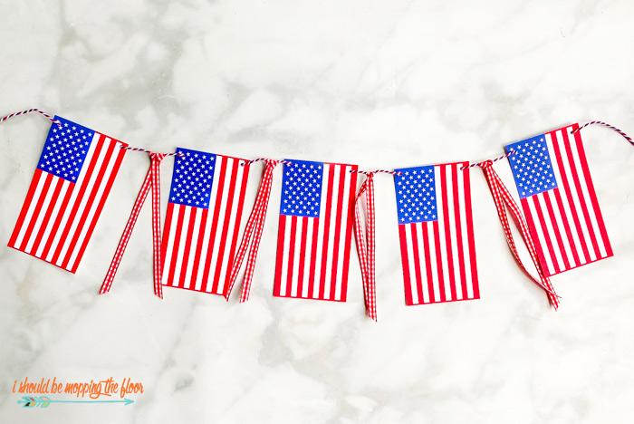 American Flag Banner Printable