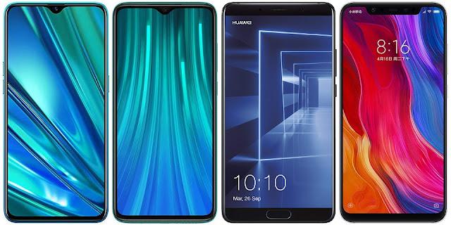 Realme 5 Pro vs Xiaomi Redmi Note 8 Pro vs Huawei Mate 10 vs Xiaomi Mi 8