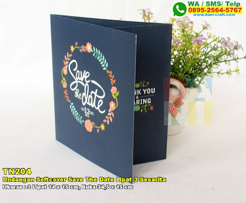 Undangan Softcover Save The Date Lipat 3 Sesarita