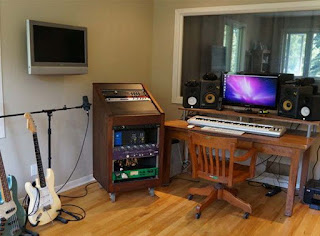 lantai kayu studio musik
