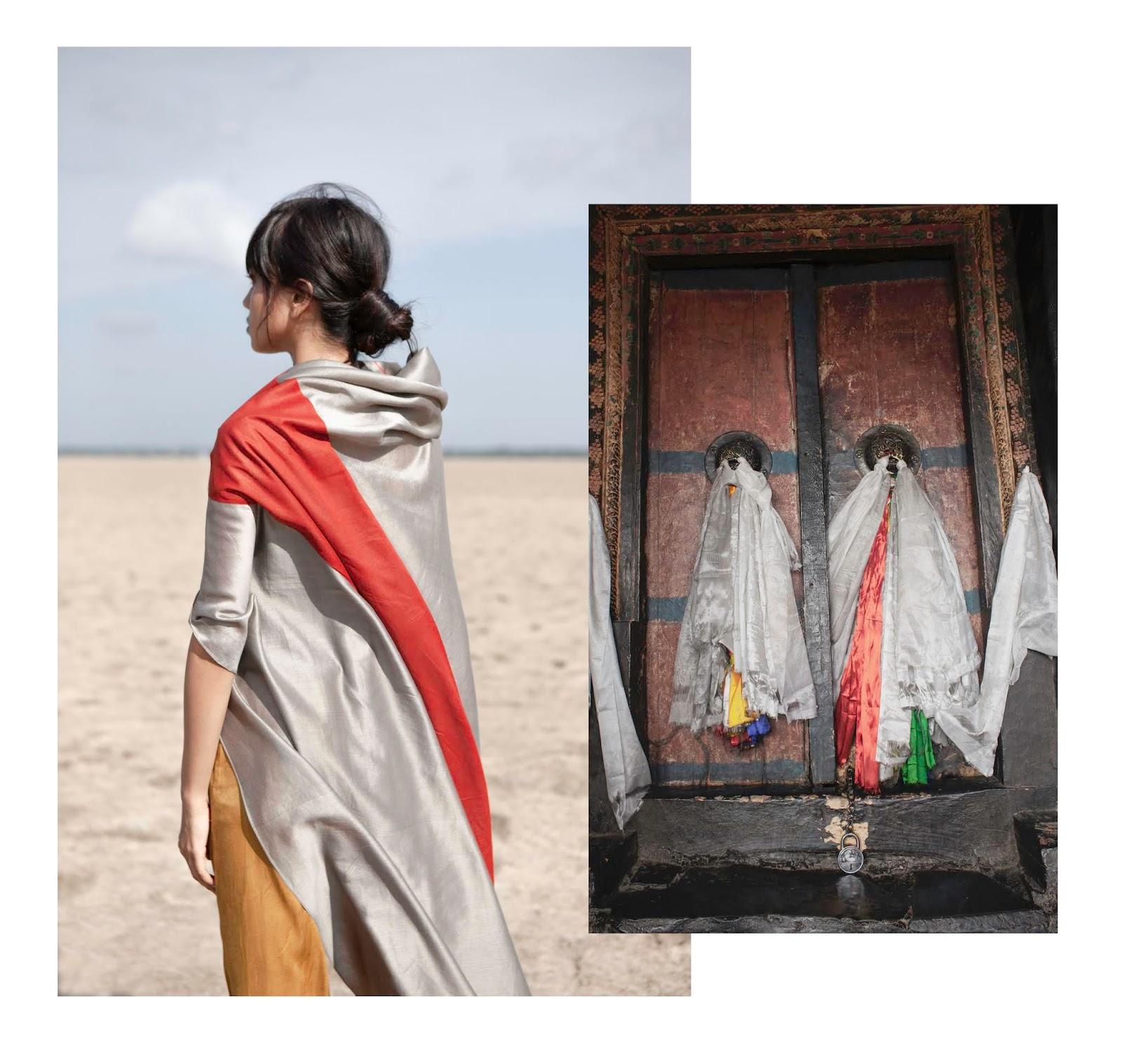 Blusa de seda e inspiración de colección Ladakh de Alejandra Domínguez