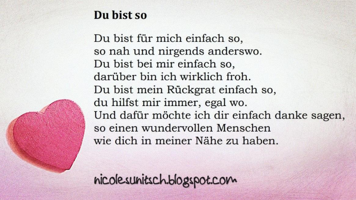 Gedichte Von Nicole Sunitsch Autorin Gedicht Du Bist So Aus