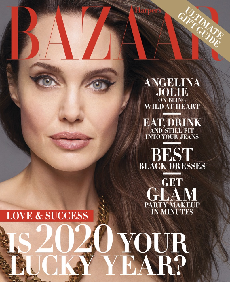 Angelina Jolie on Harper's Bazaar US December-January 2019.20 Cover