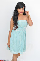 Sahana New cute Telugu Actress in Sky Blue Small Sleeveless Dress ~  Exclusive Galleries 030.jpg