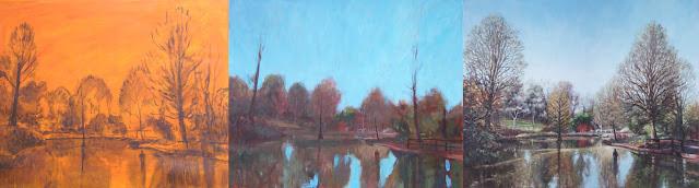 Martin davey WIP art garden lake hillier Hampshire