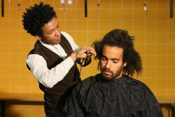 Hull player Tom Huddlestone goes under the scissors after breaking two-year scoring duck