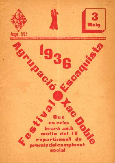 Portada del Boletín de 1936/37 de la Agrupació d'Escacs Xac Doble