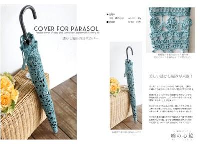 Funda de paraguas a crochet gráfico patrón en Pdf